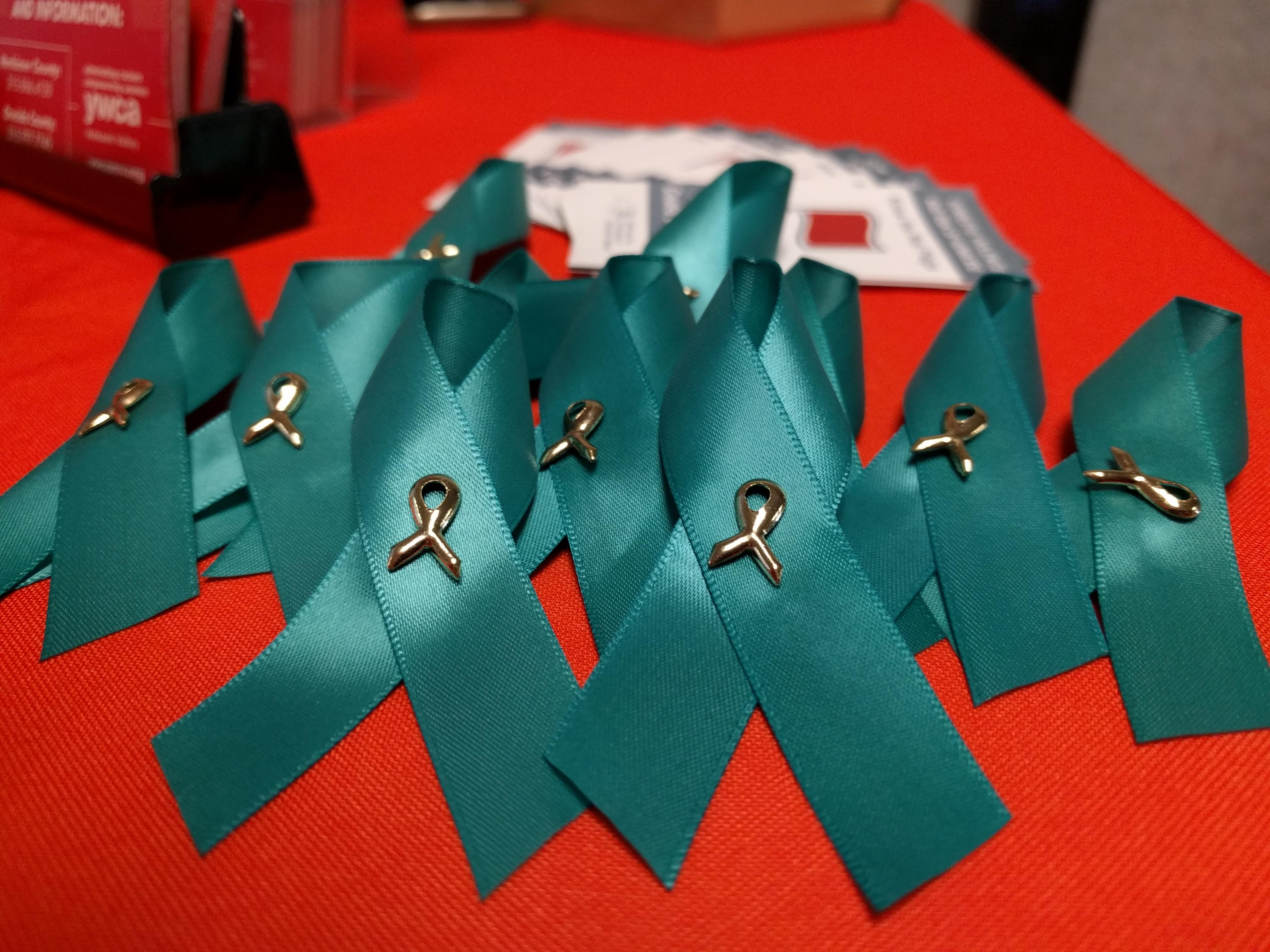 teal ribbons