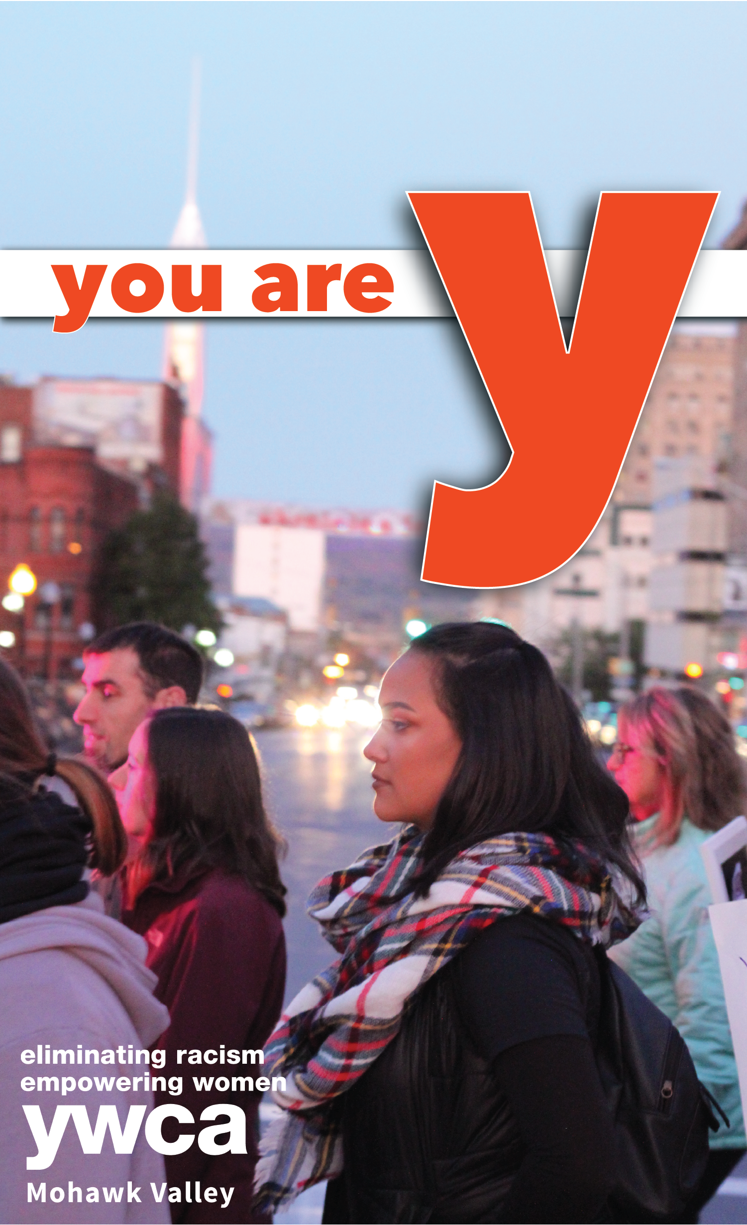 you are y: marchers on Genesee St., Utica