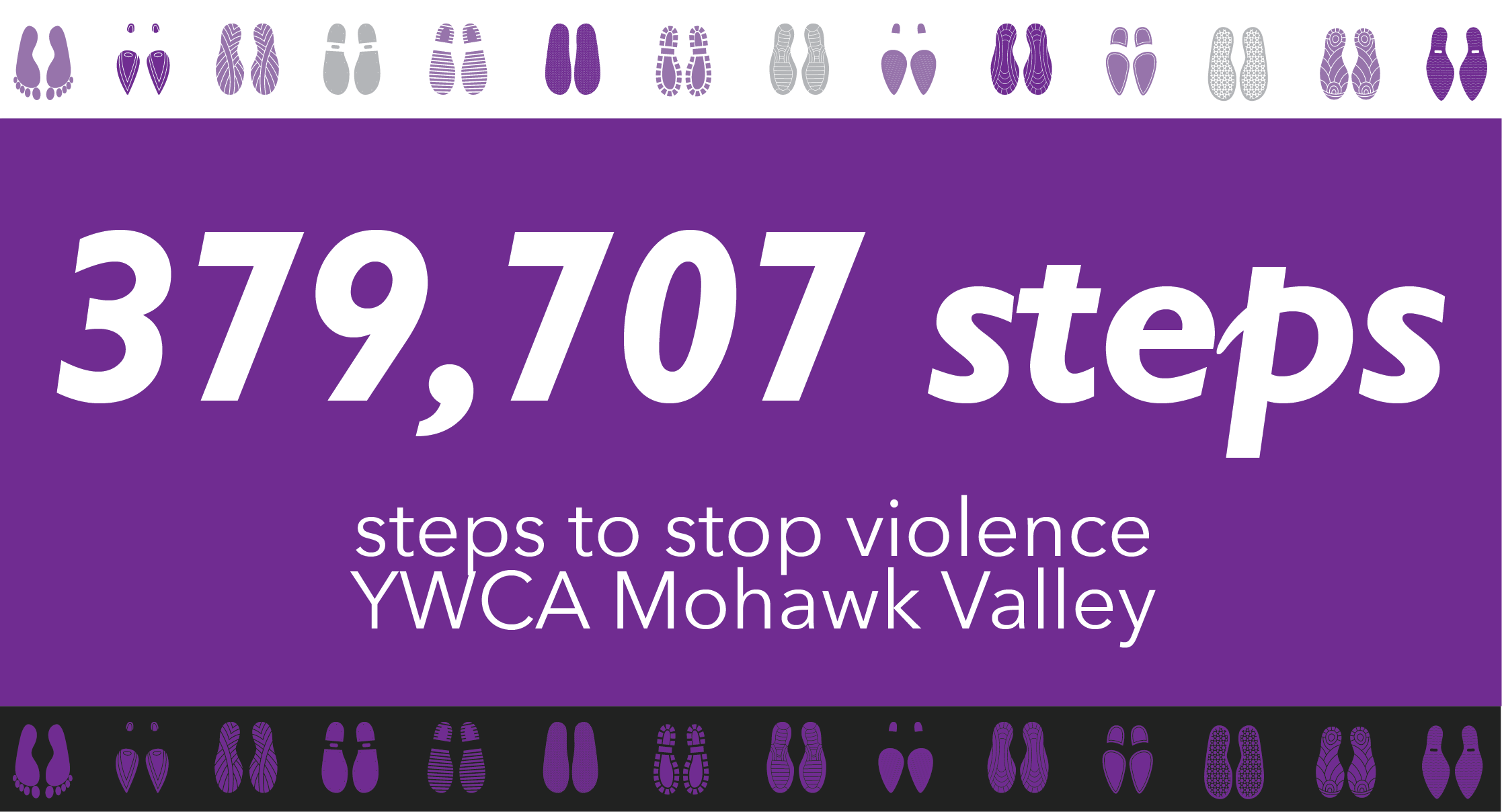 379,707 steps | steps to stop violence, YWCA Mohawk Valley
